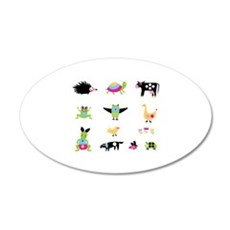 Whimsical Animal Party Wall Decal