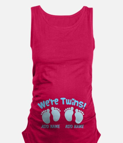 Were Twin Boys Customize Maternity Tank Top