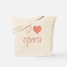 I Love Opera Tote Bag