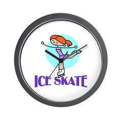 Ice Skate Wall Clock
