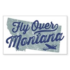 Fly Over Montana Decal