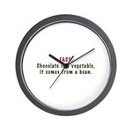 Chocolate is a Vegetable Wall Clock