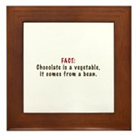 Chocolate is a Vegetable Framed Tile