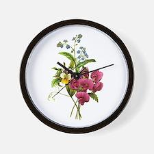 Redoute Bouquet Wall Clock