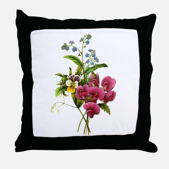 Redoute Bouquet Throw Pillow