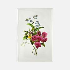 Redoute Bouquet Rectangle Magnet
