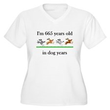 95 birthday dog years 1 Plus Size T-Shirt