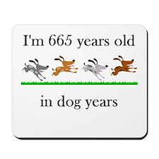 95 birthday dog years 1 Mousepad