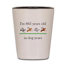 95 birthday dog years 1 Shot Glass