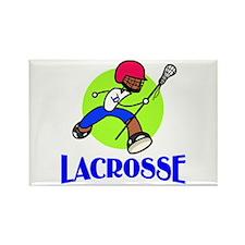 Lacrosse Rectangle Magnet