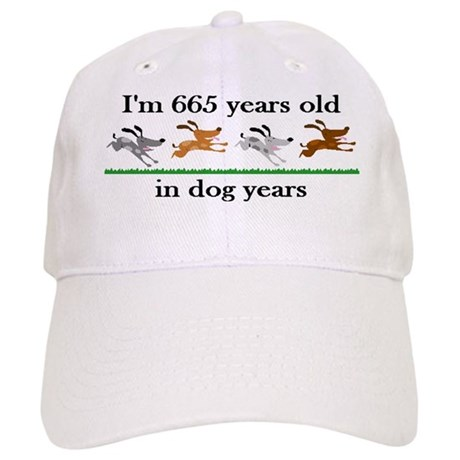 95 dog years birthday 2 Baseball Cap