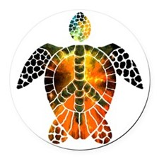 sea turtle-3 Round Car Magnet