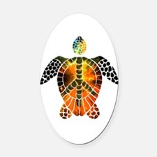 sea turtle-3 Oval Car Magnet