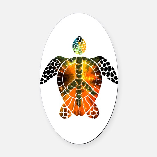 sea turtle-3 Oval Car Magnet