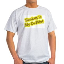 Honkus Is My Co-Pilot Ash Grey T-Shirt