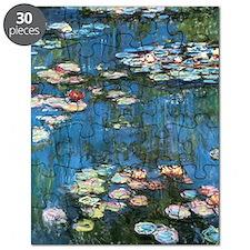 Waterlilies by Claude Monet, Vintage Impres Puzzle