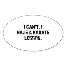 I can't. I have a karate less Oval Decal