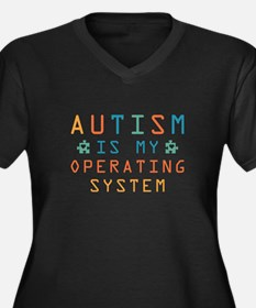 Autism Operating System Women's Plus Size V-Neck D