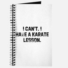 I can't. I have a karate less Journal