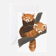 Red Pandas Greeting Cards (Pk of 10)