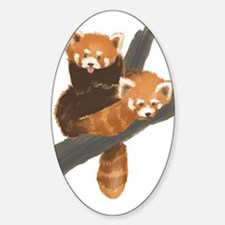 Red Pandas Oval Decal