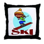 Ski Throw Pillow
