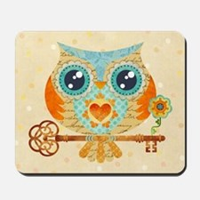 Owl's Summer Love Letters Mousepad