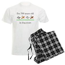 100 dog years birthday 1 Pajamas