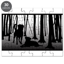 Rottweilers in Woods Puzzle