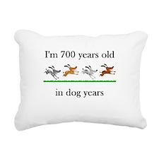 100 dog years birthday 1 Rectangular Canvas Pillow