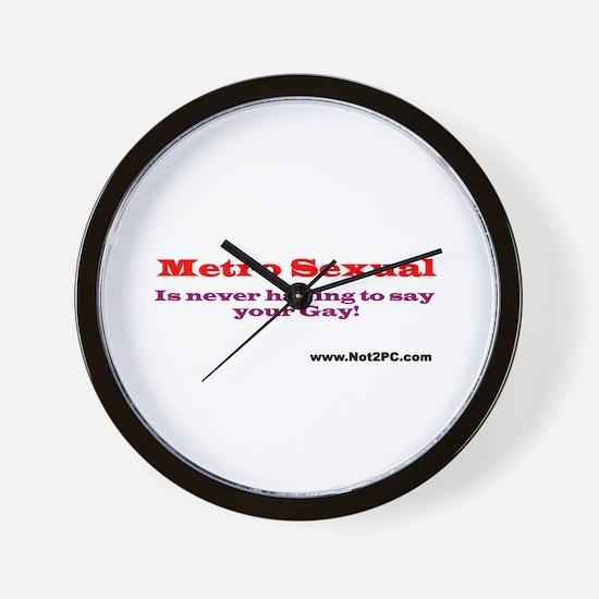 Metro Sexual Wall Clock