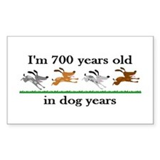 100 dog years birthday 2 Decal