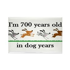 100 dog years birthday 2 Rectangle Magnet
