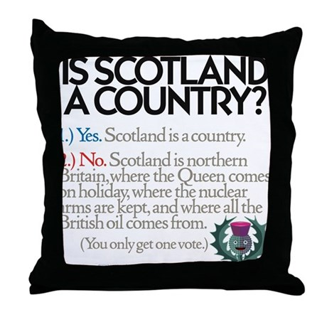 Yes Or No Throw Pillow by WeeWillieGear