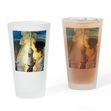 Appolo 11 Launch First moon landing Drinking Glass