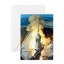 Appolo 11 Launch First moon landing Greeting Card