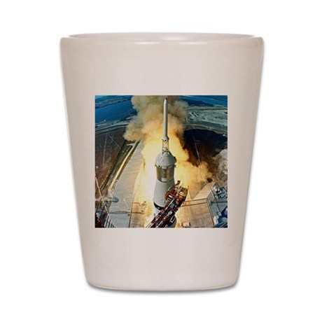 Appolo 11 Launch First moon landing Shot Glass