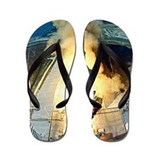 Appolo 11 Launch First moon landing Flip Flops