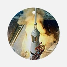 Appolo 11 Launch First moon landing Round Ornament