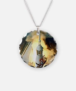 Appolo 11 Launch First moon  Necklace