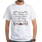 Army Poem of Love White T-Shirt