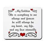 Army Poem of Love Mousepad