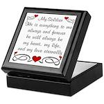 Army Poem of Love Keepsake Box