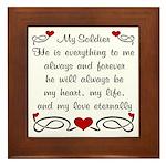 Army Poem of Love Framed Tile