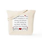 Army Poem of Love Tote Bag