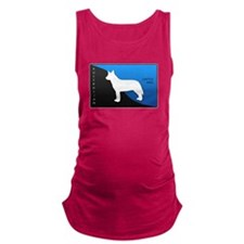 blueblack.png Maternity Tank Top