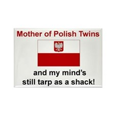Mother of Polish Twins Rectangle Magnet