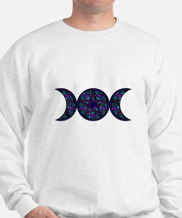 Stained Glass Pentacle Goddess moon Jumper