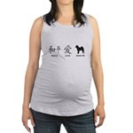 chinesepeace.png Maternity Tank Top