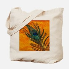 Peacock with Orange Tote Bag